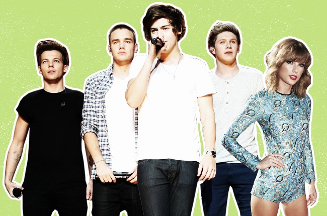 one direction, taylor swift