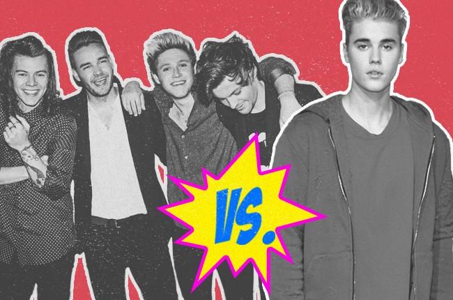 One Direction Justin Bieber