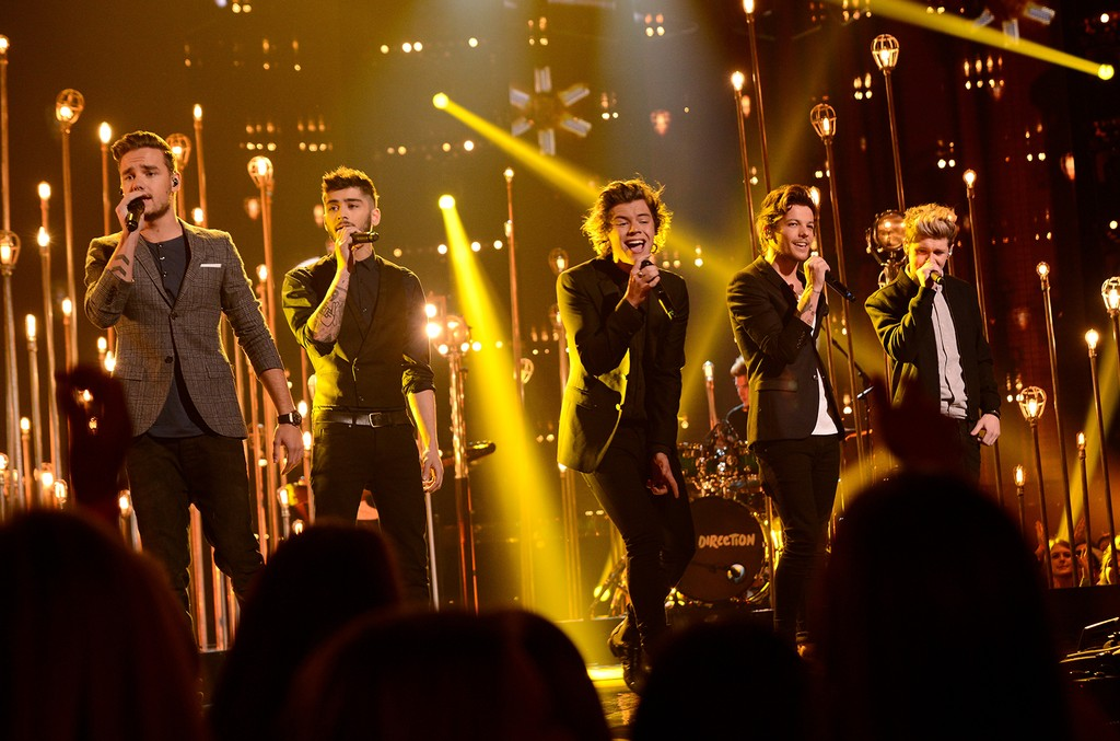 One Direction perform on Fox's The X Factor on Nov. 21, 2013 in Hollywood, Calif.