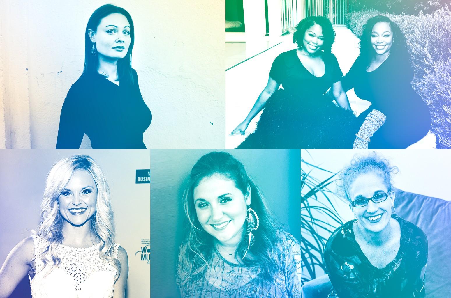 Edith Bo, Massah David & Miatta David Johnson, Dawn Olejar, Alicia Karlin & Brittany Schaffer