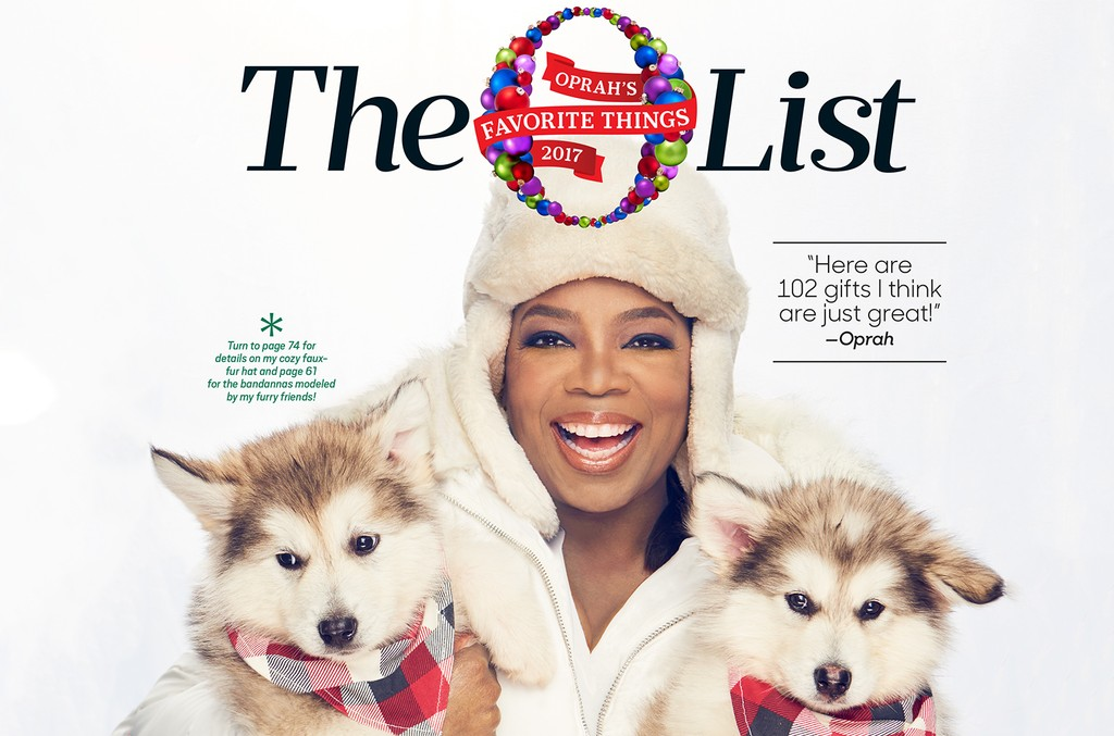 2017 Oprah's Favorite Things issue of O, The Oprah Magazine.
