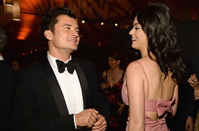 Orlando Bloom and Katy Perry attend The Weinstein Company and Netflix Golden Globe Party