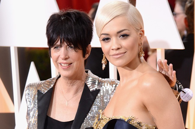 Diane Warren and Rita Ora Oscars 2015