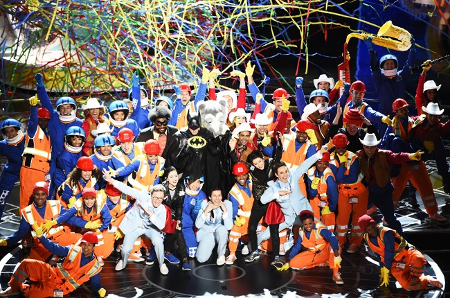Everything is Awesome Oscars 2015 -- The Lonely Island and Tegan and Sara