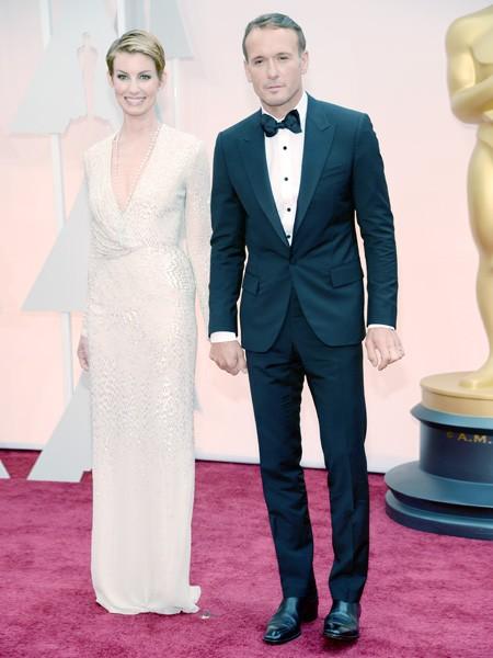 Faith Hill and Tim McGraw 2015 Oscars