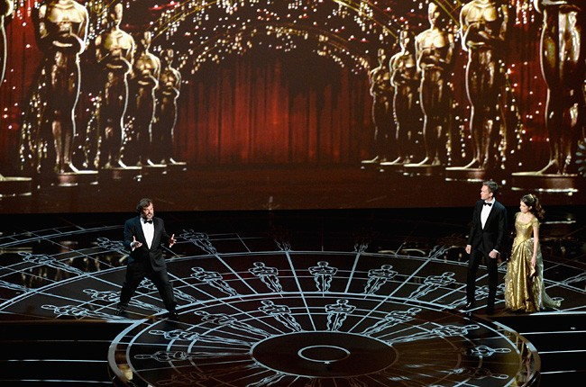 Jack Black, Neil Patrick Harris and Anna Kendrick 2015 Oscars