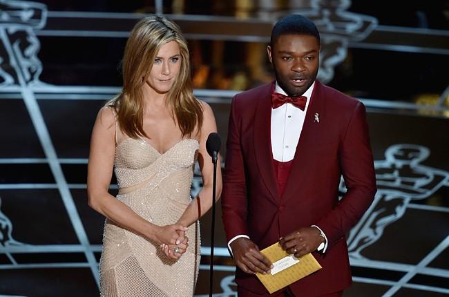 Jennifer Aniston and David Oyelowo 2015 Oscars