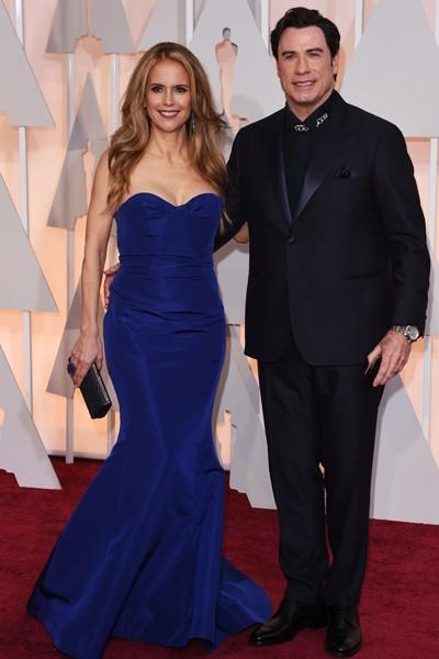 John Travolta and Kelly Preston Oscars 2015