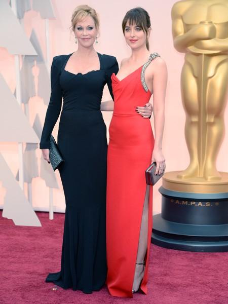 Melanie Griffith and Dakota Johnson Oscars 2015