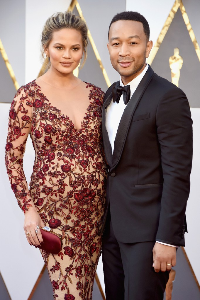 Chrissy Teigen John Legend Oscars 2016