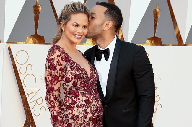 John Legend Chrissy Teigen Oscars 2016