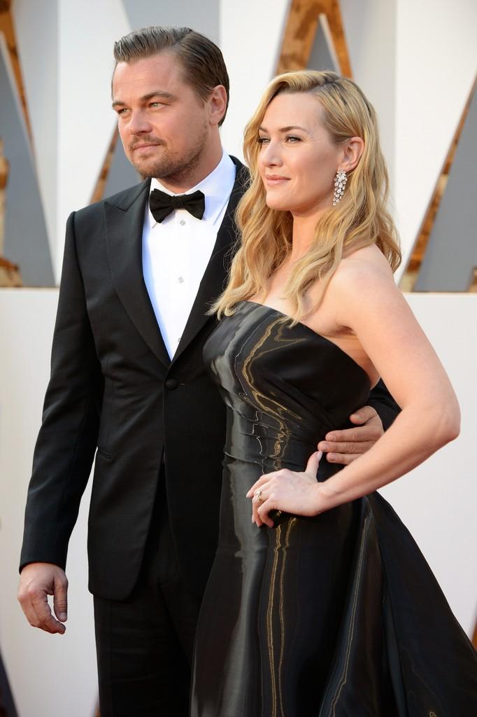 Leonardo DiCaprio Kate Winslet 2016 oscars