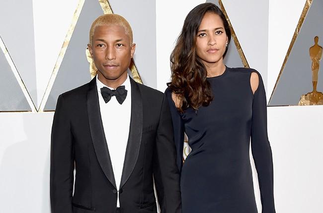 Pharrell Williams and Helen Lasichanh oscars 2016