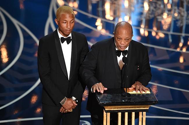 Pharrell Williams and Quincy Jones oscars 2016