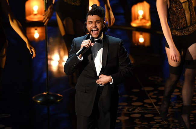 The Weeknd oscars 2016