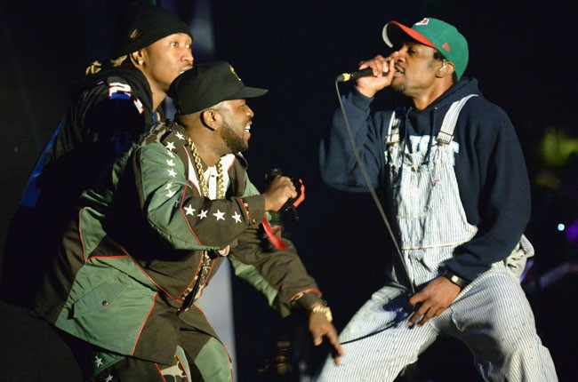 Outkast perform onstage during day 1 of 2014 Coachella