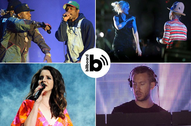 Outkast, Pharrell, Lana del Ray, Calvin Harris