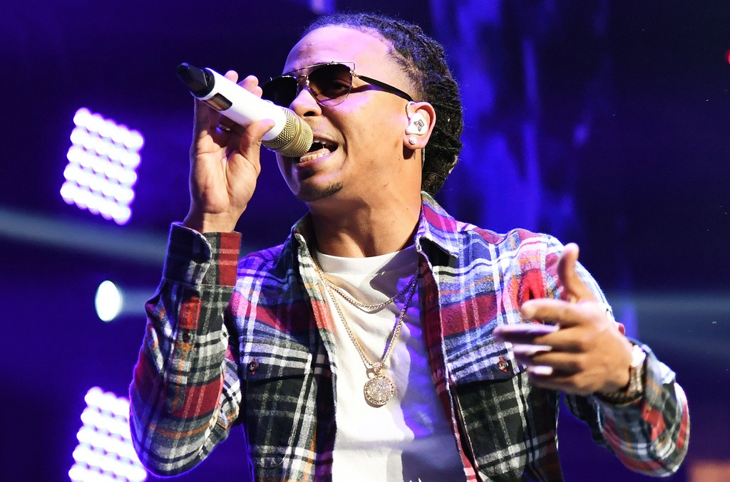 Ozuna performs during Calibash Las Vegas at T-Mobile Arena on Jan. 26, 2017 in Las Vegas.