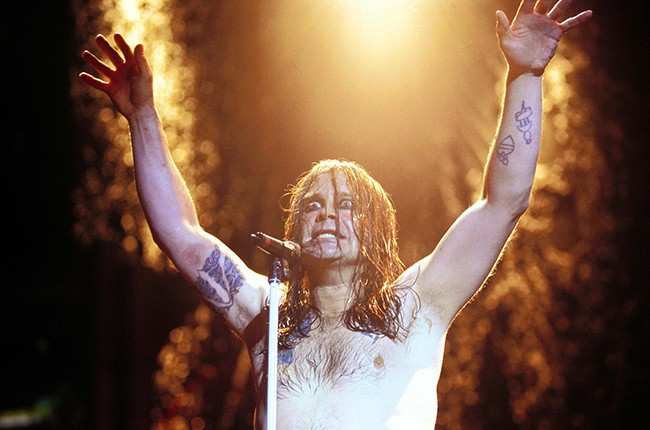 Ozzy Osbourne of Black Sabbath performs in December 1997.