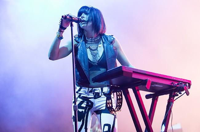 Phantogram performs at Lollapalooza 2014