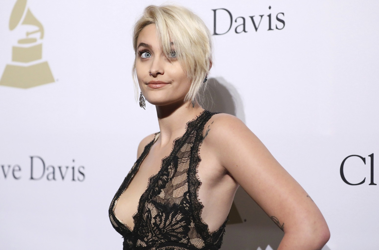 Paris Jackson attends the Clive Davis and The Recording Academy Pre-Grammy Gala at The Beverly Hilton Hotel on Feb. 11, 2017 in Beverly Hills, Calif.