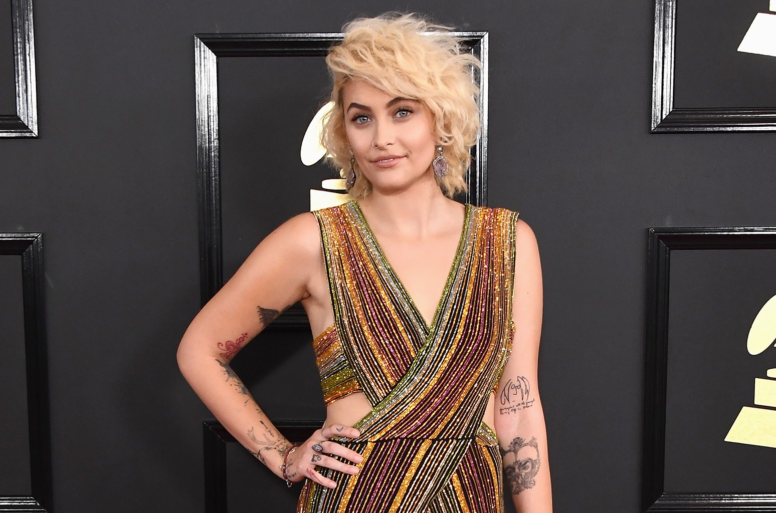 Paris Jackson attends The 59th Grammy Awards at Staples Center on Feb. 12, 2017 in Los Angeles.