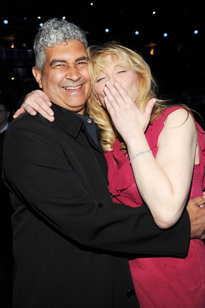 Pat Smear and Courtney Love at the 2014 Rock And Roll Hall Of Fame Induction Ceremony