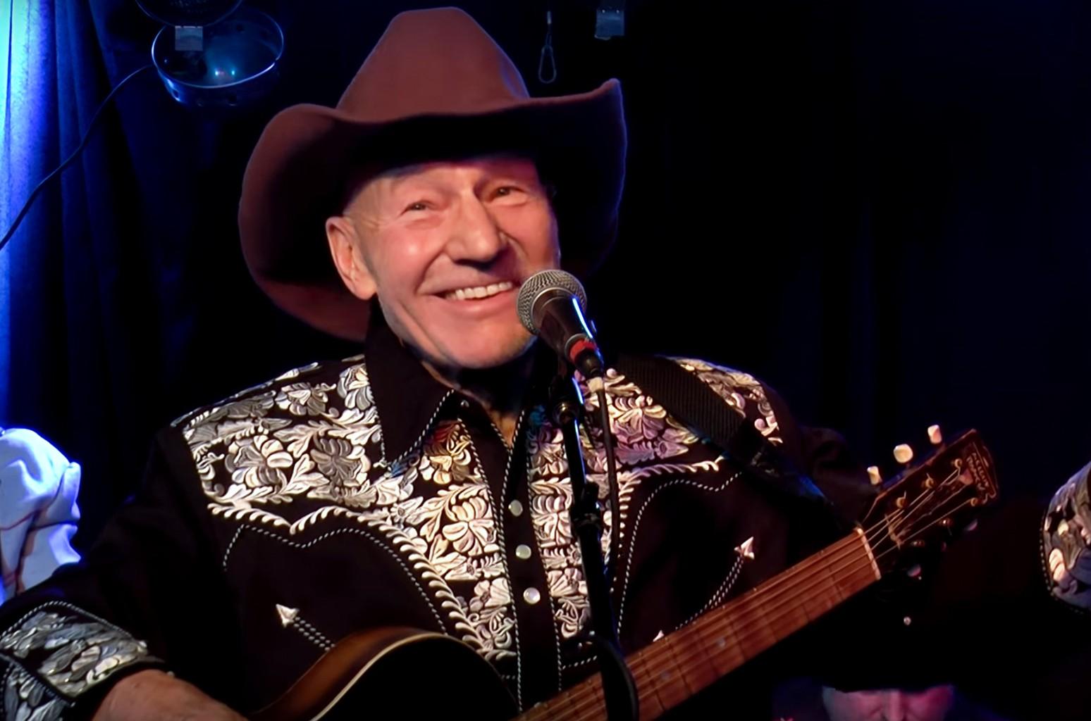 "Patrick Stewart in ""P Stew's Cowboy Classics."""