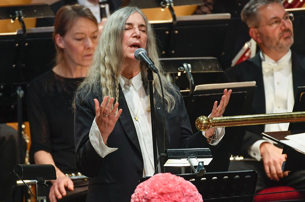 Patti Smith performs during the Nobel Prize Award Ceremony