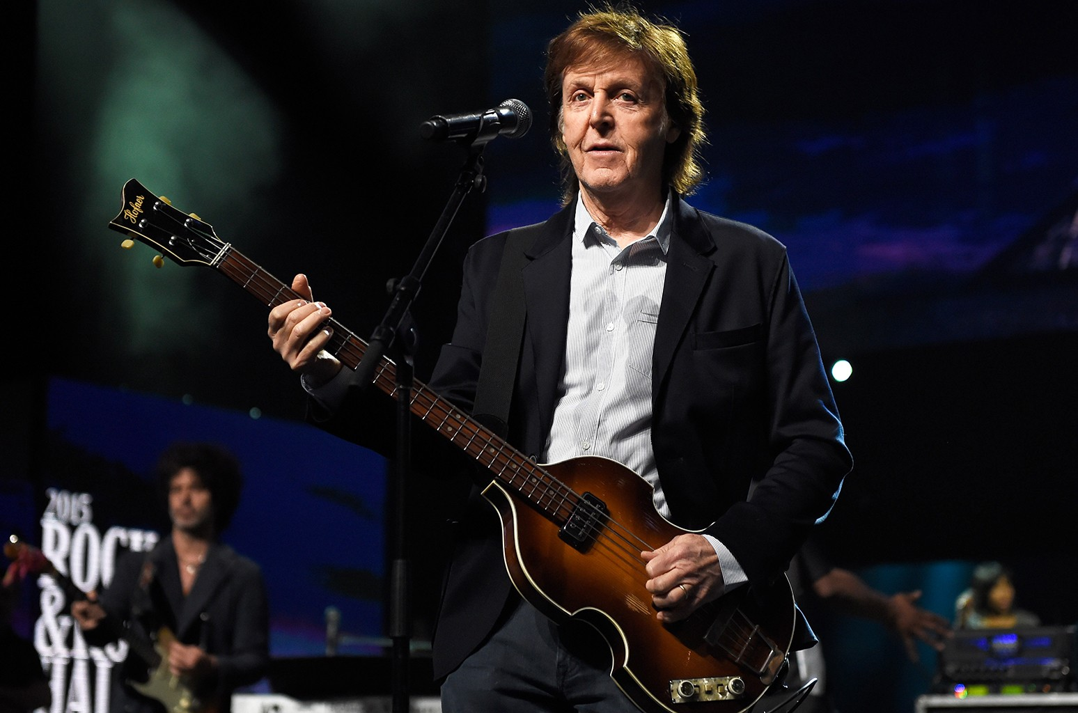 Paul McCartney at the 30th Annual Rock And Roll Hall Of Fame