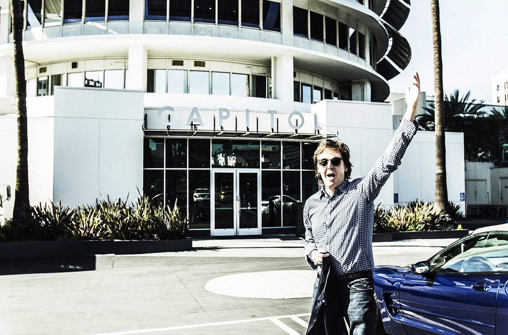 Paul McCartney at Capitol Records