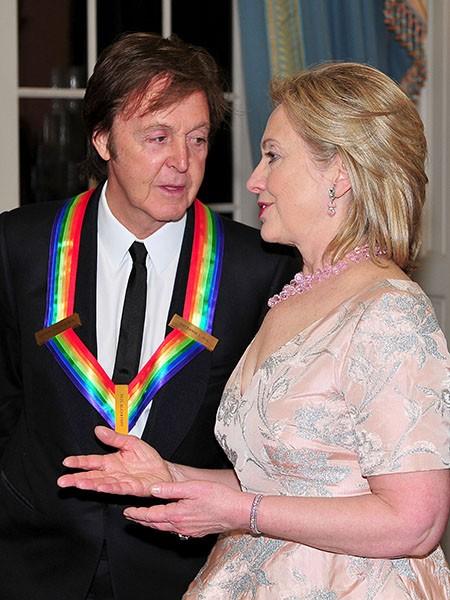 Sir Paul McCartney and Hillary Rodham Clinton