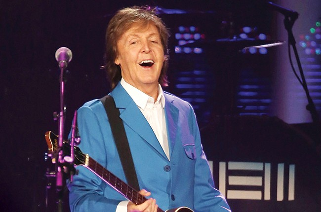 Paul McCartney performs in concert at Times Union Center 2014