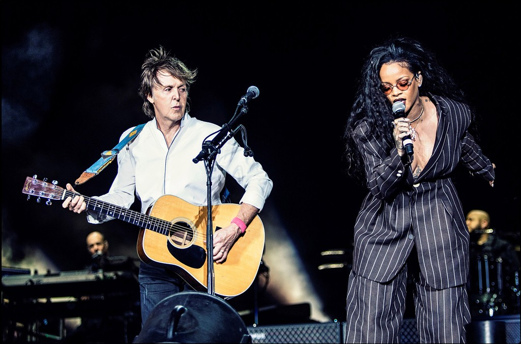 Paul McCartney and Rihanna