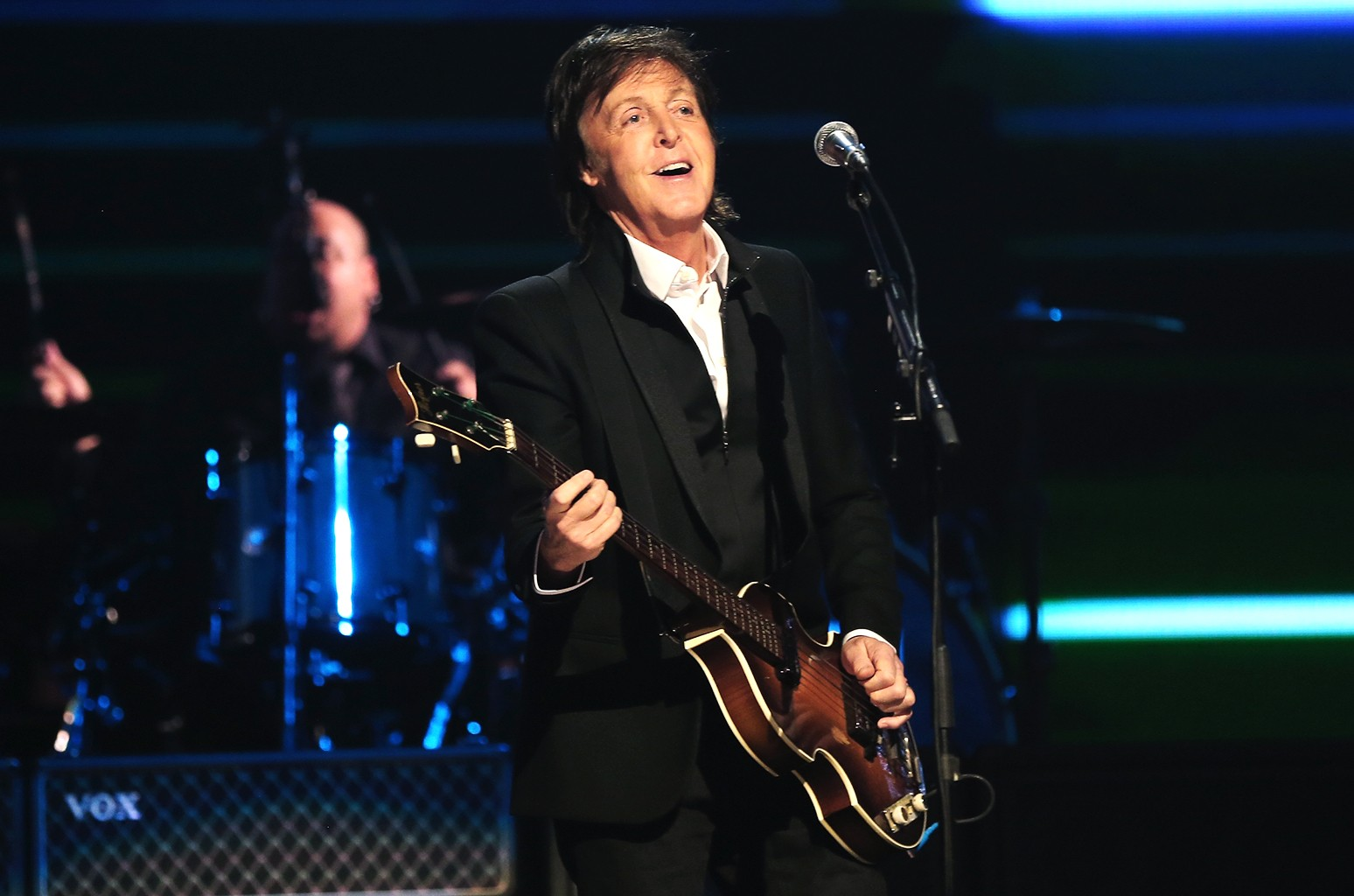 Sir Paul McCartney performs onstage during the iHeartRadio Music Festival at the MGM Grand Garden Arena on Sept. 21, 2013 in Las Vegas.