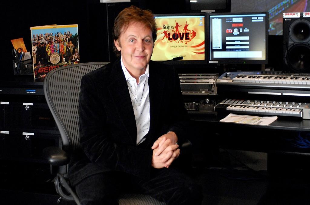 "Sir Paul McCartney, Cirque du Soleil ""LOVE"" control booth"