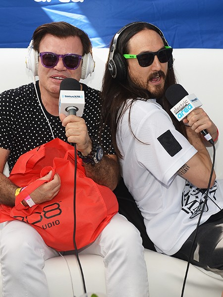 """Paul Oakenfold and Steve Aoki are interviewed at SiriusXM""""s """"UMF Radio"""" Broadcast Live From The SiriusXM Music Lounge"""