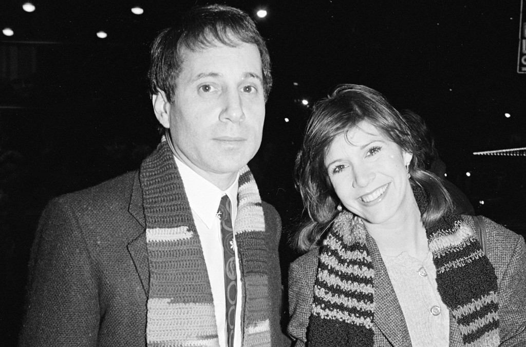 Paul Simon and Carrie Fisher.