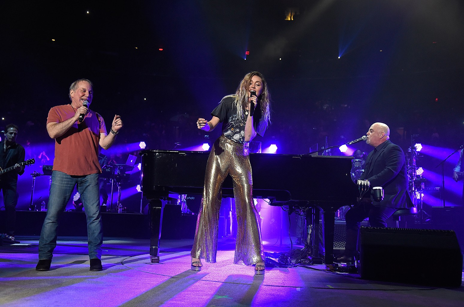 Paul Simon, Miley Cyrus and Billy Joel
