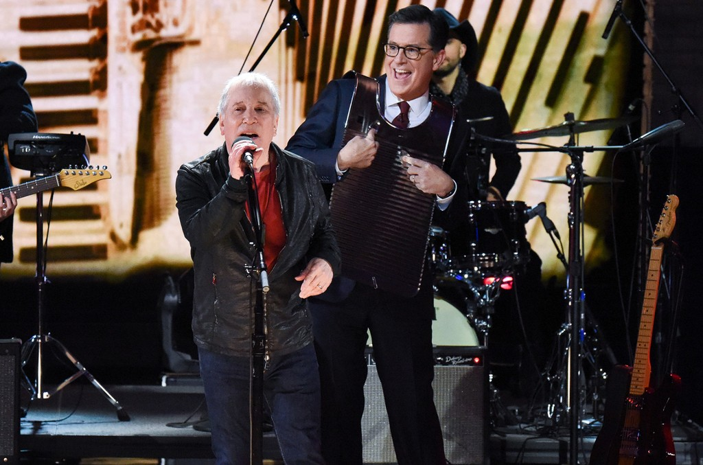 Paul Simon Stephen Colbert