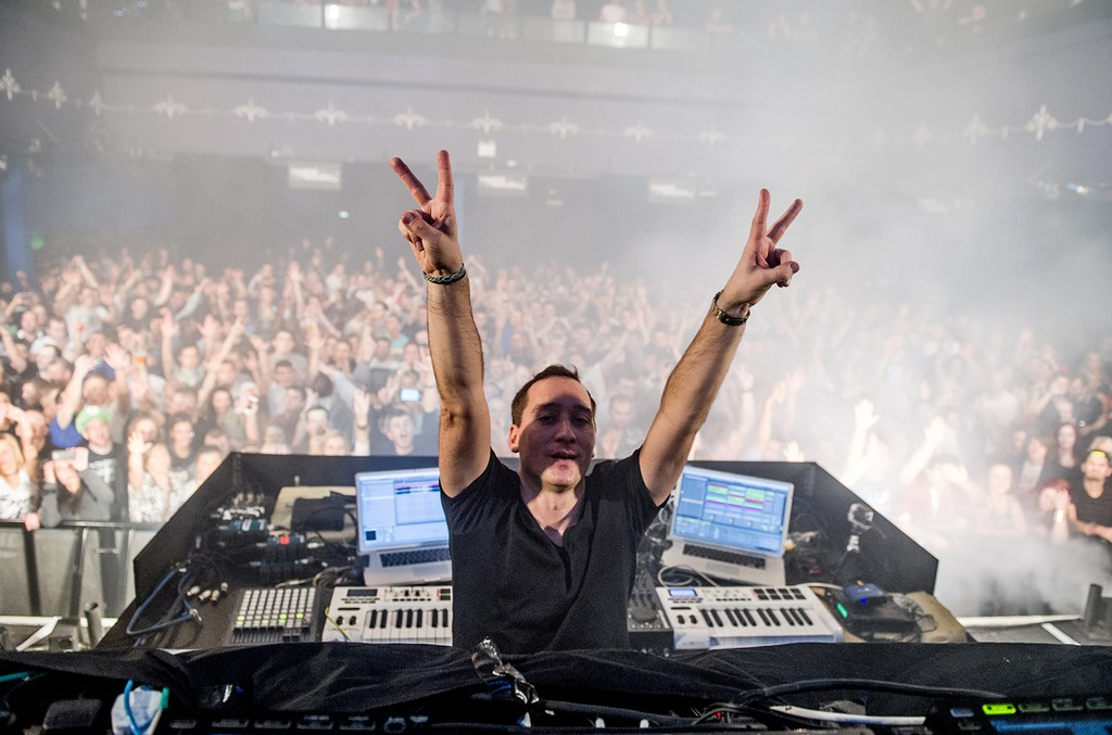 Paul Van Dyk performs on stage at Leeds O2 Academy