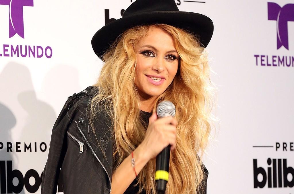 Paulina Rubio backstage at Billboard Latin Music Awards