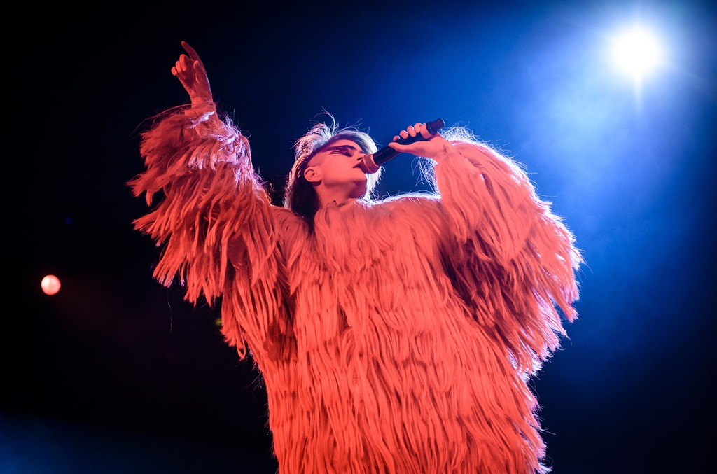 Peaches performs live on stage during a concert at Columbiahalle on Nov. 24, 2016 in Berlin, Germany.