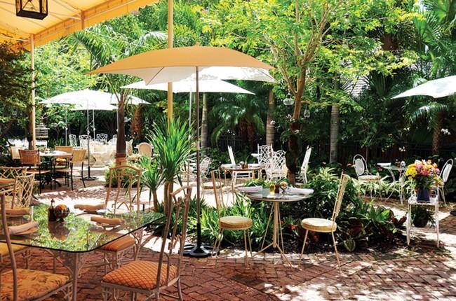 The Peacock Garden in Coconut Grove, Fla.