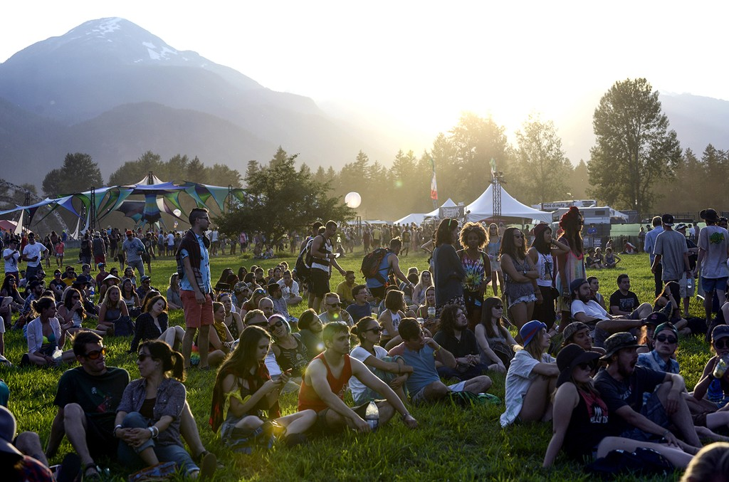 Atmosphere during the Pemberton Music Festival on July 16, 2015 in Pemberton, Canada.