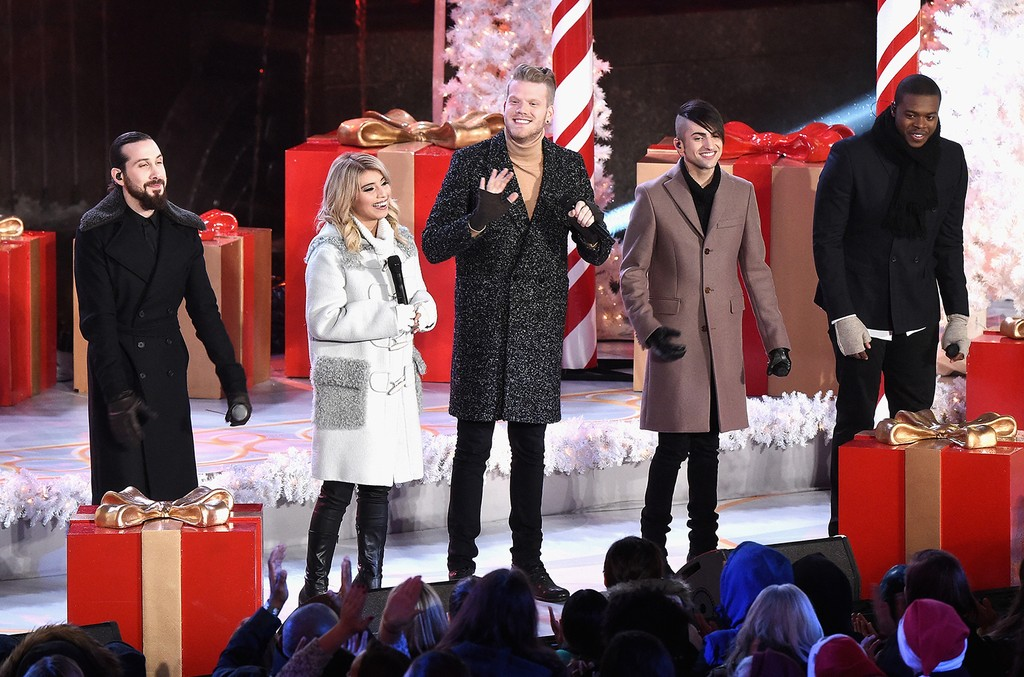 Pentatonix perform during the 83rd Rockefeller Center Tree Lighting