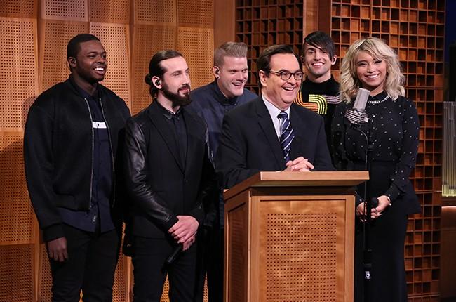 "Pentatonix with Steve Higgins on ""The Tonight Show Starring Jimmy Fallon"""