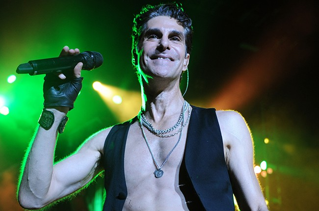 Perry Farrell of Janes Addiction performs at Fillmore Miami Beach