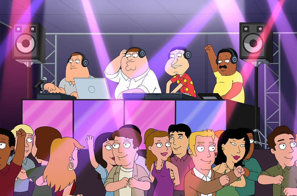 "A scene from the Family Guy episode ""Peter's Def Jam."""