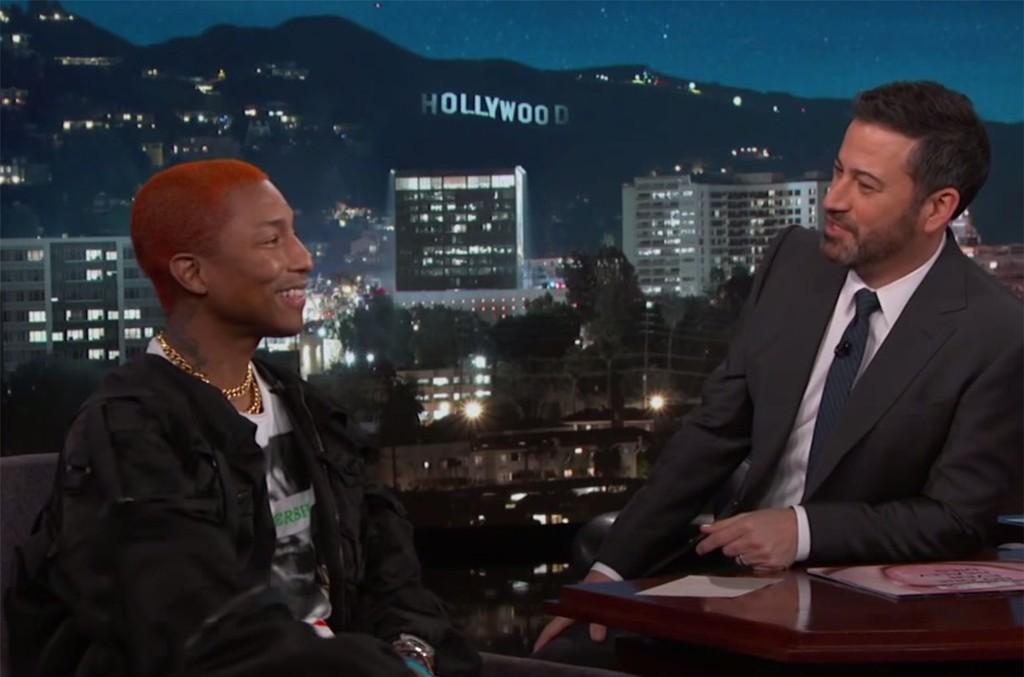 Pharrell on Jimmy Kimmel Live!